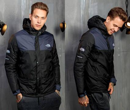 "Тёплая мужская демисезонная куртка на синтепоне 1253 ""THE NORTH FACE"""