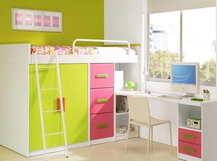 Детская кровать-чердак ДМО43