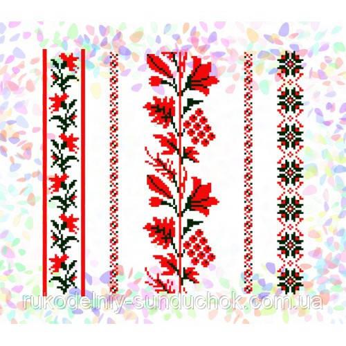 """Водорастворимый флизелин с рисунком """"Confetti"""" (K 264 Растительные мотивы)"""