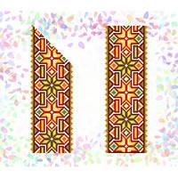 """Водорастворимый флизелин с рисунком """"Confetti"""" (K 265 Гуцульский орнамент)"""