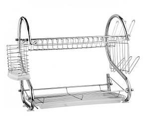 Настольная сушилка для посуды с поддоном сушка 2 яруса 56 см Edenberg EB-2109, фото 2