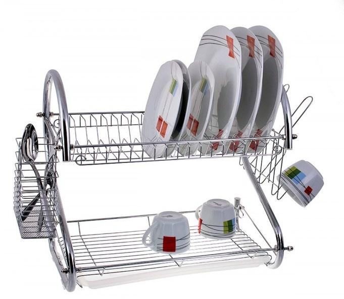 Настольная сушилка для посуды с поддоном сушка 2 яруса 56 см Edenberg EB-2109