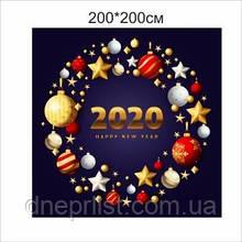 """Фотозона """"Happy New Year 2020"""" венок"""