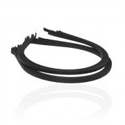 Обруч для волос металлический 5 мм, обмотан чёрной лентой