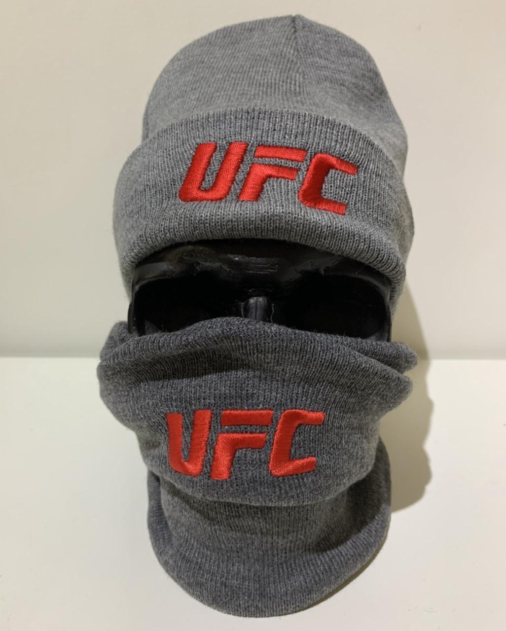Шапка мужская UFC - ❄️ Winter ❄️ Серая
