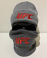 Шапка мужская UFC - ❄️ Winter ❄️ Серая, фото 1