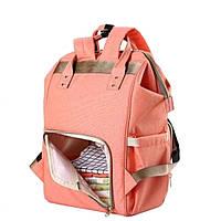 Сумка-рюкзак для мам, Mummy Bag, Baby Mo. -- РОЗОВАЯ (S09523)