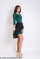 Ошатне плаття-футляр c асиметричною басків з гіпюру Marena