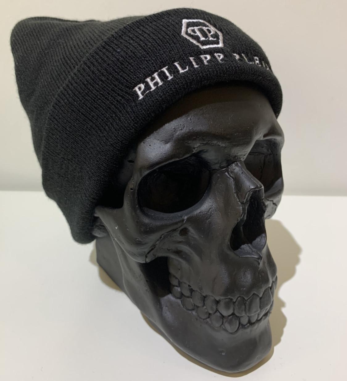 Шапка мужская черная Philipp Plein - ❄️ Winter ❄️ Черная