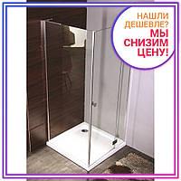 BENITA Right душ кабина квадратная 900*900*2000мм, поддон (PUF) 5 см (с сифоном), распашная, профиль хром, стекло прозрачное