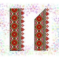 """Водорастворимый флизелин с рисунком """"Confetti"""" (K 269 Гуцульский орнамент)"""