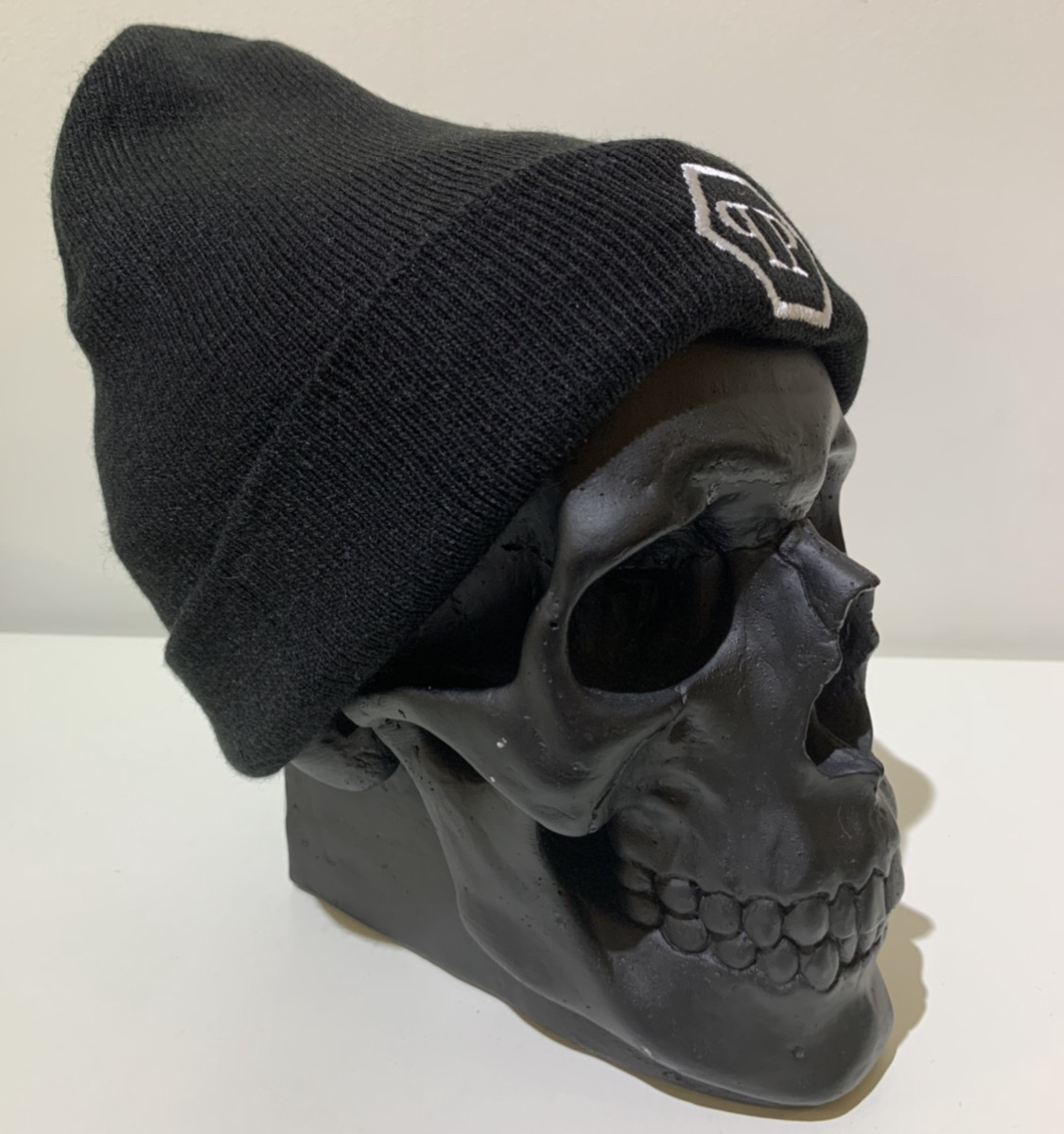 Шапка мужская черная Philipp Plein Logo - ❄️ Winter ❄️ Черная