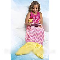Детский плед для девочек в форме русалки Snuggie Tails Shark jb (S09748)