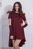 Ефектне вільне плаття з французького трикотажу з мітенками Vivien