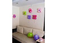 Украшение детской комнаты воздушными шарами.