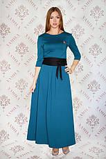 Шикарное длинное трикотажное платье с поясом Шарлотта-2, фото 3