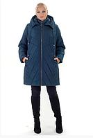 Женский пуховик зимний теплый удлиненный  большого размера 56-70 р цвет малахит