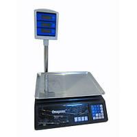 Торговые электронные весы до 50 кг + стойка