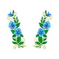 """Водорастворимый флизелин с рисунком """"Confetti"""" (K 278 Блакитні квіти)"""
