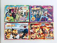 Пазлы 80 элементов микс №3 (16 шт в блоке) Любимые герои мультфильмов 3 (Шимер Шайн, Лол ...)