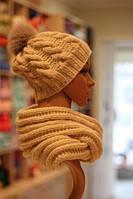 Вязаные,шарфы, шапки, варежки, митенки
