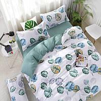 Комплект постельного белья Лист монстеры  (евро) Berni