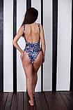 Слитный купальник с принтами, фото 4