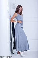 Легке вільне плаття-максі з гумкою по талії Alessia