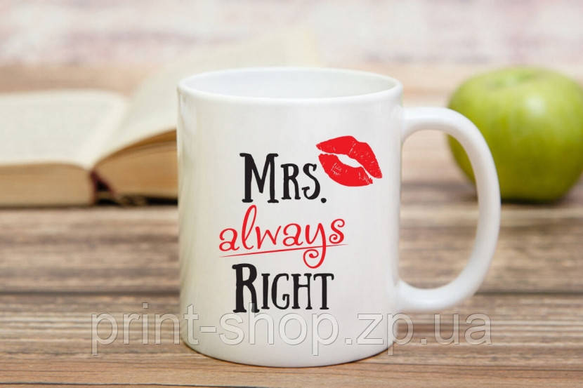 Чашка Mrs. Right