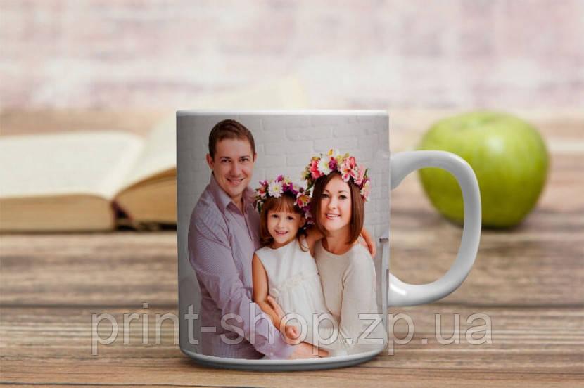 Чашка з фотографією сім'ї під замовлення