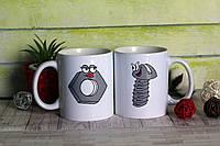 """Чашка парна """"Болт"""" / друк на чашках / печать на чашке"""