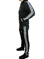 Мужской спортивный костюм теплый  адидас,adidas,реплика ,три полосы, ,трикотажный , 46-52 производство Турция.