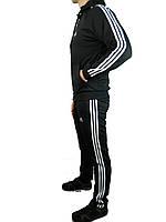 Мужской спортивный костюм теплый  адидас,adidas,реплика ,три полосы, ,эластан , 46-52 производство Турция.