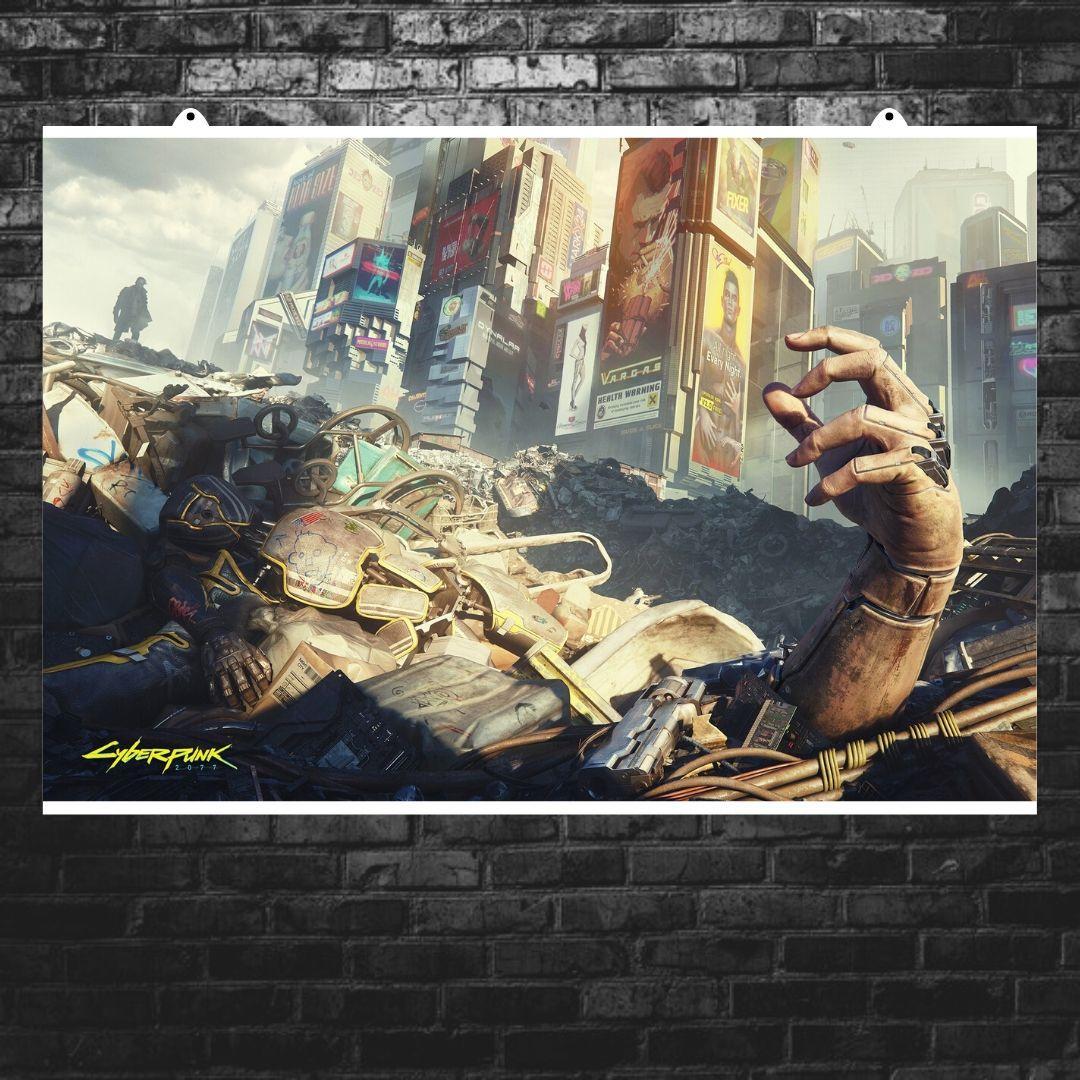 """Постер """"Cyberpunk 2077. Свалка"""". Размер 60x40см (A2). Глянцевая бумага"""