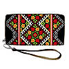 Женский текстильный кошелек с традиционным украинским орнаментом
