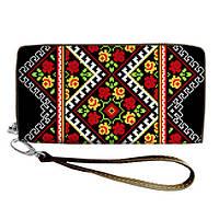 Женский текстильный кошелек с традиционным украинским орнаментом, фото 1