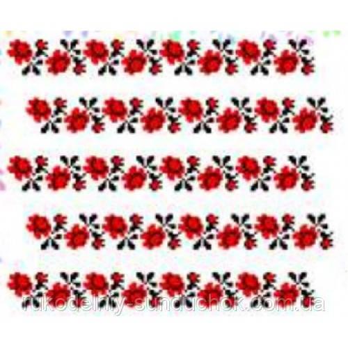 """Водорастворимый флизелин с рисунком """"Confetti"""" (K 285 Розы)"""