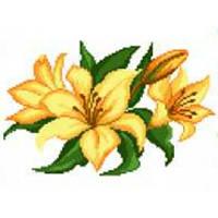 """Водорастворимый флизелин с рисунком """"Confetti"""" (K 288 Лилии)"""