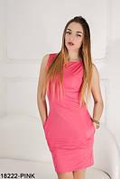 Легке лаконічне плаття-футляр з кишенями Megan