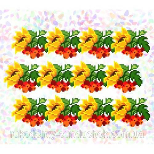 """Водорастворимый флизелин с рисунком """"Confetti"""" (K 290 Подсолнухи и калина)"""
