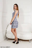 Легке приталене плаття зі спідницею воланами Sandra
