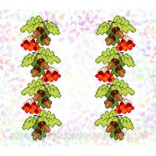 """Водорастворимый флизелин с рисунком """"Confetti"""" (K 291 Желуди и калина)"""