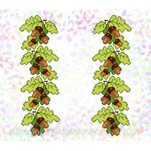 "Водорастворимый флизелин с рисунком ""Confetti"" (K 292 Желуди)"