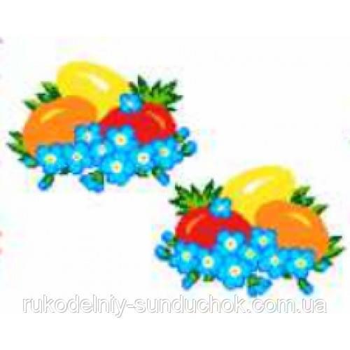 """Водорастворимый флизелин с рисунком """"Confetti"""" (K 293 Пасха)"""
