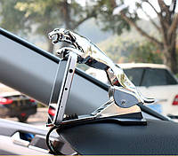Держатель для телефона в автомобиль Леопард. Серебро, фото 1