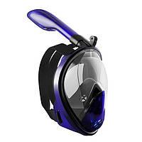 Маска для снорклинга Aolais полнолицевая с креплением для камеры Черно-фиолетовая, фото 1