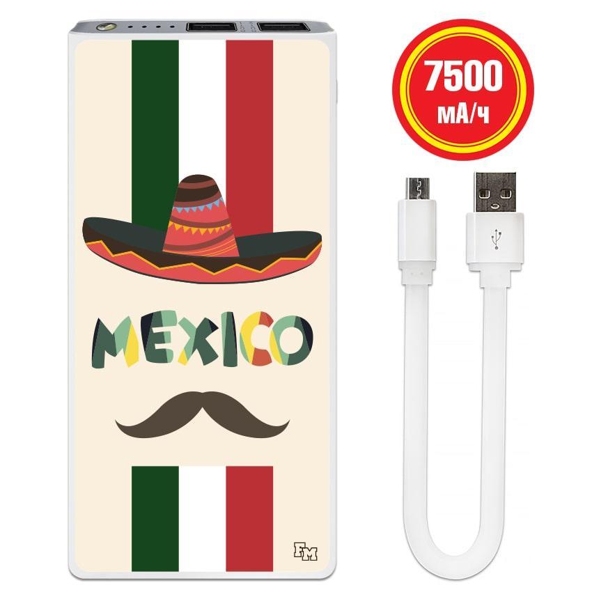 Универсальная мобильная батарея Мексиканец, 7500 мАч (E189-08)