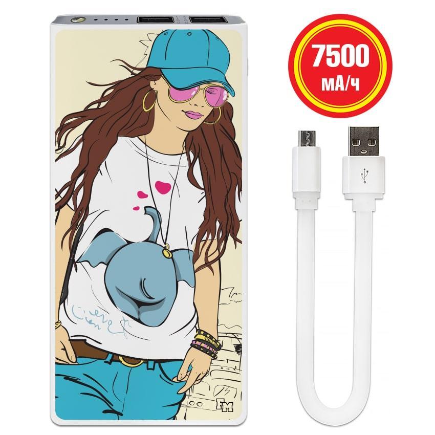 Универсальная батарея Fashion Girl, 7500 мАч (E189-11)