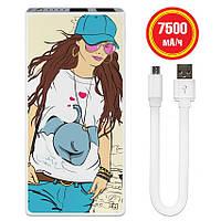 Универсальная батарея Fashion Girl, 7500 мАч (E189-11), фото 1