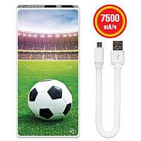 Внешнее зарядное устройство Футбол, 7500 мАч (E189-14)